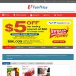 $5 off at NTUC FairPrice ($50 Minimum Spend)
