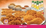 Ramadan Bundle Feast with Drinks for $39.90 (U.P. $60.20) at Popeyes via Fave by Groupon