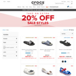Free Shipping Sitewide (No Minimum Spend) + Extra 20% off Sale Styles at Crocs