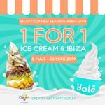 1 for 1 Ice Cream & Ibiza at Yolé (Westgate)