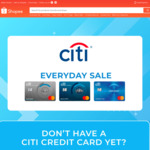 $12 off ($100 Min Spend, Friday) or $6 off ($60 Min Spend, Saturday to Thursday) Sitewide at Shopee [Citi Cards]