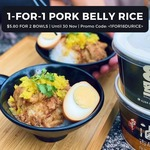 8 Degrees: 1-for-1 Pork Belly Rice (U.p. $11.60)