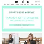 20% Off Storewide at MDS Collection