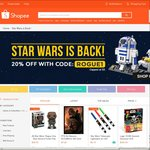 20% off Star Wars Items at Shopee (Capped at $5)