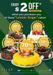 """$2 off When You Purchase Any """"Lesser Sugar"""" Cake from Polar Puffs & Cakes"""