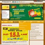15% Discount on Renewal of Zoo/Birdpark/ River Safari/ Night Safari Wildlife Reserve Memberships