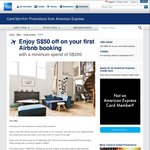 $50 off Your First Airbnb Booking (Minimum $200 Spend, Pay with an American Express Card)