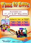 Timezone Singapore: Double Dollars - Purchase $60 Credit for $30 or $100 Credit for $50 (Saturday 21st and Sunday 1st/29th May)