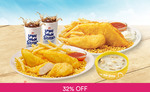 Chicken, Fish, Fries, and Drink for 2 People for $11 (U.P. $16.10) at Long John Silver's via Fave [previously Groupon]