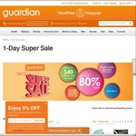Up to 80% Off - One Day Sale at Guardian