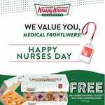 Free Half Dozen Original Glaze Doughnuts with Every Assorted Dozen Purchase at Krispy Kreme (Nurses)