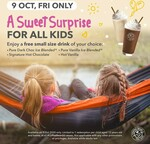 Free Small Size Drink for All Kids Aged 12 Years Old and below at Coffee Bean