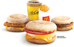 Egg, Sausage or Chicken McMuffin Breakfast McSaver Meal from $4.50 at McDonald's