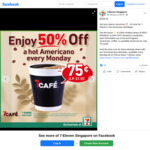 50% off Hot Americano Every Monday at 7-Eleven