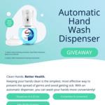 Free Walch Automatic Hand Wash Dispenser from Nurturing Mummies/Qiren Organisation (AIA Consultation & Collection Required)