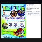 Timezone Singapore: Double Dollars - Purchase $60 Credit for $30 or $100 Credit for $50 (Sunday 13th and Friday 25th March)