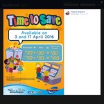 Timezone Singapore: Double Dollars - Purchase $60 Credit for $30 or $100 Credit for $50 (Sunday 3rd and 17th April)