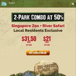 50% off Zoo and River Safari Combo for March - $31.50/Adult, $21/Child