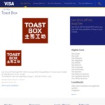 $0.52 off Hot Kopi/Teh at Toast Box (Pay with Visa PayWave or Visa on Your Mobile)