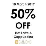 50% off Hot Latte & Cappuccino at Kraftwich