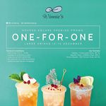 1 for 1 Large Drinks at Winnie's (Novena Square)