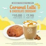 Caramel Latte & Chocolate Croissant for $7.90 (1 Set) and $10 (2 Sets) at The Coffee Bean & Tea Leaf (Weekdays, Till 12pm Daily)