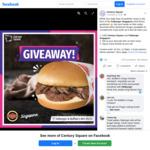 Win 1 of 6 Swiss Mushroom Burgers from Century Square
