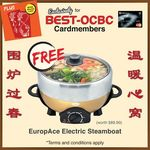 Free Ang Bao (Red Packet) Pack with $50+ Spend or EuropAce Electric Steamboat (U.P. $89.90) with $688+ Spend at BEST Denki*