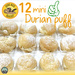 12 Mini Durian Puffs for $4.99 (U.P. $12) at Guru Nice Bakery via Qoo10