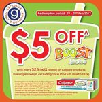 Spend $25 on Colgate Products at Guardian and Get $5 off at Boost Juice Bars