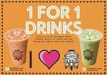 1 for 1 Drinks ($3) at Tuk Tuk Cha