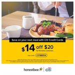 $14 off at honestbee Food ($20 Minimum Spend, New Customers, Citibank Credit Cards)