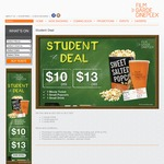 Film Garde Cineplex Student Offer - Movie Ticket + Small Popcorn + Small Drink from $10 [Monday to Friday]