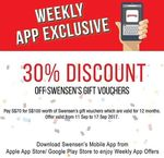30% off Swensen's Gift Vouchers - $100 Voucher for $70 via App (Monday 14th to Sunday 20th August)
