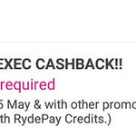 27% Cashback on RydeX, RydeXL and RydeEXEC Rides with RYDE