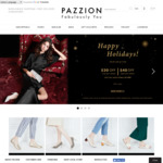 $20 off $120 Spend, $40 off $200 Spend Both Online and Offline @ Pazzion