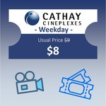 Weekday (Mon-Thu) Cathay 2D Movie Vouchers for $8 @ shopee.lifestyle via Shopee