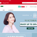 Up to 30% off + Extra $18 off ($150 Min Spend) at innisfree via Shopee