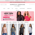 Dorothy Perkins: $10 Cashback (Min. Spend $60) When You Cart out with Your Singtel Dash