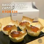 4x Basque Burnt Cheesecakes for $24 (U.P. $31.60) at The Coffee Bean & Tea Leaf
