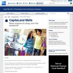 $15 Voucher for $80 or $10 for $100 at Capitaland Malls with AmEx for Next Three Weekends