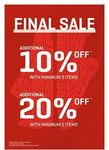 Additional 10% Off (with Min 3 Items), 20% Off (with Min 5 Items) at Puma (Vivocity)