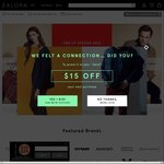 15% off Sitewide at Zalora ($120 Minimum Spend)