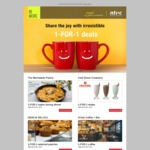 1 for 1 Deals for NTUC Members Including Mains at Marmalade Pantry, 1 for 1 Pastry at Dean and Deluca, 1 for 1 Coffee at Oriole