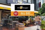 50% off at Rv Burger via Eatigo