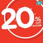 20% off Store-Wide (in-Store and Online) with Min. $38 Nett Spend + 6% Cash Rebate with POSB Everyday Card @ Watsons