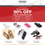 Free Shipping Sitewide (No Minimum Spend) Plus 30% off Selected Styles at Crocs