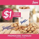 100g Bag of Assorted Cookies for $5 (U.P. $6.30) at Famous Amos via Fave [previously Groupon] - New Customers Only