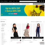 Up to 80% off + Extra 35% off ($60 Min Spend) on Selected Styles at Zalora