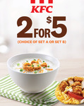 2 for $5 Breakfast Deals at KFC